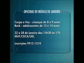 UEL oferece oficinas de música - Oficinas são oferecidas para crianças e adolescente.