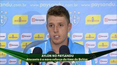 Atacante Aylon é novo reforço do Paydandu, de Belém, PA - Jogador foi emprestado ao time de Belém e vai ficar lá por um ano.