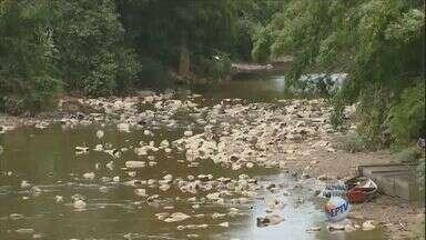 Rios da região de Campinas registram níveis preocupantes - As chuvas que atingiram Campinas e região não têm ajudado muito os rios que abastecem as cidades. A vazão do Rio Atibaia está muito baixa e o abastecimento de água está prejudicado.