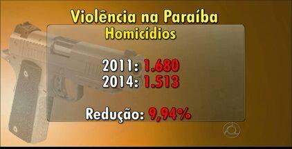 Pesquisa aponta redução da violência na Paraíba - Segundo levantamento da Secretaria de Segurança Pública, os casos de homicídio caíram 9,94% entre 2011 e 2014.