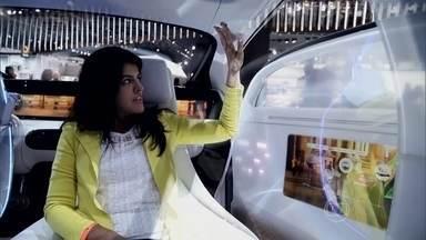 Carro autônomo pode ser controlado por gestos - Estrela no Salão de Detroit, conceito da Mercedes-Benz F 015 tem telas no interior das portas que reproduzem o ambiente ao redor do veículo.