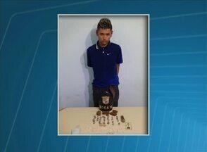 Crack, maconha e suspeito de ser proprietário das drogas são apreendidos em Garanhuns - Na casa dele, também foi encontrado R$ 500 em dinheiro.