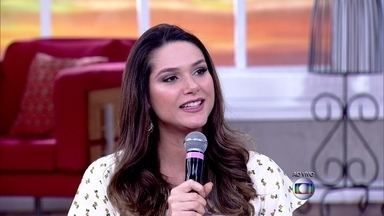 Após vencer endometriose, Fernanda Machado comenta gravidez - Atriz revê ultrassonografia: 'Foi quando descobrimos que era menina'