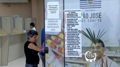 Falta de remédios de alto custo preocupa os pacientes da região - Na farmácia que distribui a medicação, em São José dos Campos, 70% dos medicamentos estão em falta.