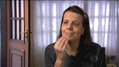Mulher convive com a pior dor do mundo há sete anos - Tatiana Ferreira sofre de uma doença pouquíssimo conhecida, mas cruel: a neuralgia do trigêmeo.