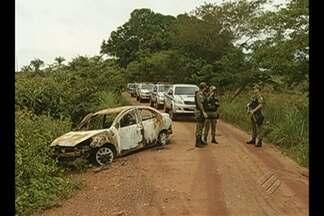 Polícia busca quadrilha que explodiu agência - Trinta homens das polícias civil e militar realizam buscas em São Geraldo do Araguaia.