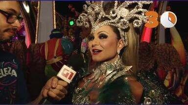 30 segundos: Maísa Magalhães fica com frio na barriga antes de entrar na avenida - A atriz comenta que esperava muito por esse momento e que o público vai adorar o desfile da Tucuruvi.
