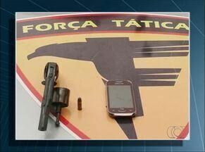 Menor é flagrado com arma de fogo e celular no norte do estado - Menor é flagrado com arma de fogo e celular no norte do estado