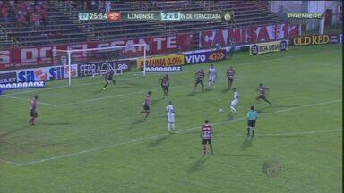 Confira os gols dos times da região da última rodada do Paulistão - O jogo entre Linense e XV de Piracicaba terminou em 2x1 para o Linense. Ituano e Corinthians terminaram empatados em 1x1. No Pacaembu, Portuguesa 1 e Santos 3. E o Penapolense perdeu por 2x0 para o Palmeiras.