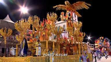 Desfile das campeãs do carnaval de Porto Alegre se apresentaram no sambódromo - As escolas se reapresentaram no Porto Seco.
