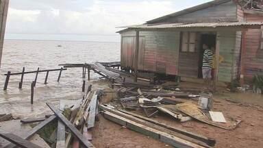 Defesa Civil monta base para monitorar famílias de área de risco do Aturiá - Defesa Civil monta base para monitorar famílias de área de risco do Aturiá