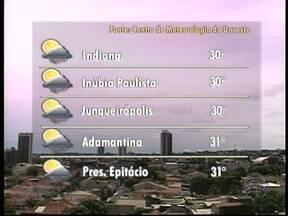 Meteorologia prevê mais chuva no Oeste Paulista - Termômetros podem chegar a 31º C em Presidente Epitácio, por exemplo.