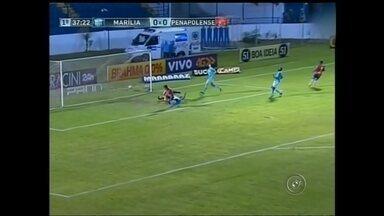Confira como foi a rodada para os times da região - O Penapolense respira um pouco melhor na elite do futebol paulista, depois da rodada do fim de semana. O CAP venceu o Marília, fora de casa.