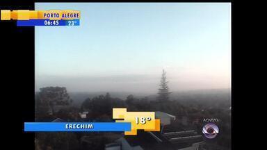 Tempo: início da terça-feira (3) é com clima seco - Confira imagens do amanhecer em diferentes cidades do RS.