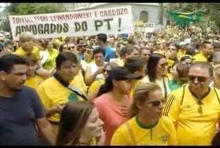 Em Belo Horizonte manifestantes se concentraram durante o domingo em pontos diferentes - Segundo a PM, 24 mil pessoas participaram do protesto.