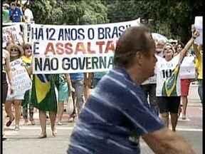 Cerca de 800 pessoas participaram de manifestação neste domingo (15) em Valadares - A manifestação foi pacífica.
