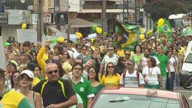 Veja como foram as manifestações do dia 15 no Sul de Minas - Veja como foram as manifestações do dia 15 no Sul de Minas