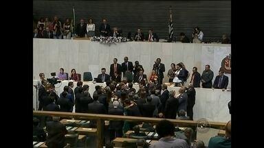 Deputados estaduais eleitos na região Centro-Oeste Paulista tomam posse em SP - Os cinco deputados estaduais da região, escolhidos pelos eleitores em outubro, tomaram posse no domingo na capital.