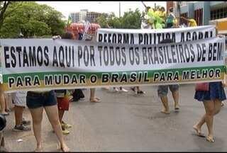 Milhares de pessoas vão às ruas para protestar contra o governo e a corrupção - Em Montes Claros, cerca de mil pessoas participaram do protesto.