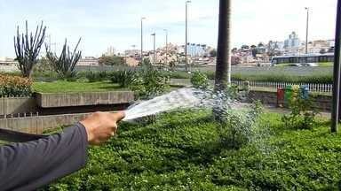 Copasa aponta que apenas 20% das pessoas atingiu meta de economia de água em fevereiro - Em Belo Horizonte, rodoviária e parques públicos tentam reduzir o consumo. Trabalho de conscientização é voltado para funcionários e a população.