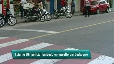 Policial é baleado durante assalto em Cachoeiro, no Sul do ES - Vítima de 43 anos está na polícia há 18, está internado na Santa Casa do município.