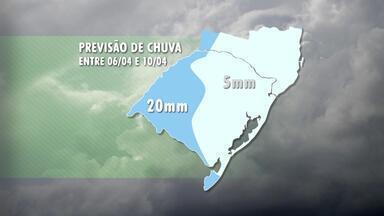 Tempo: primeira quinzena de abril será de chuva irregular - Assista ao vídeo.