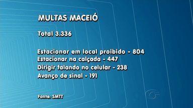 SMTT divulga números de multas aplicadas durante o mês de março - Foram 3.336 multas, a maioria por estacionar em locais e horários proibidos.
