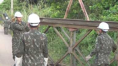 Ponte Metálica será montada em trecho da BR-307, no AM - São Gabriel da Cachoeira está isolado após desmoronamento.