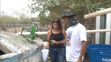 Agricultores de Riachão de Jacuípe armazenam água da chuva em dois tipos de cisternas - Pequenos produtores estão utilizando a cisterna de consumo e a de produção. Alternativa tem sido utilizada para melhorar a convivência com a seca.