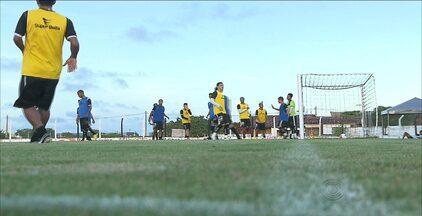 Botafogo-PB faz último coletivo antes do jogo deste domingo contra o Atlético-PB - Jogo vai ser realizado às 16h. Belo é o líder absoluto do Campeonato Paraibano.
