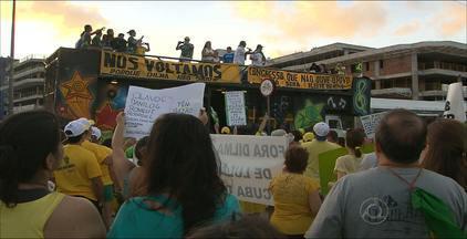 As imagens da manifestação neste domingo em João Pessoa - O comentário político de Laerte Cerqueira sobre as reivindicações.