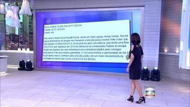Fátima recebe mensagem de telespectadora relatando caso de dislexia - Dr. Fernando Gomes Pinto explica características do distúrbio