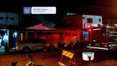 Vanguarda Repórter - Incêndio atinge oficina em São Sebastião.