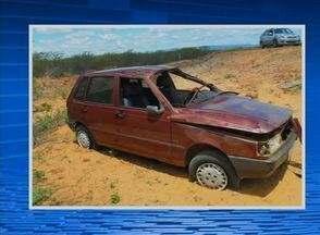 Buraco causa acidente com morte na PE-336 em Inajá, informa Polícia Civil - Homem de 57 anos morreu; duas mulheres estavam no carro e sobreviveram.