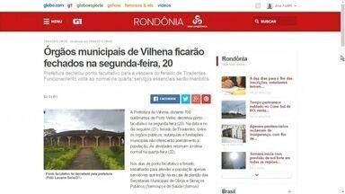 Confira os destaques do G1 Rondônia desta segunda-feira (20) - Veja as principais notícias desta manhã, com Ana Fabre.
