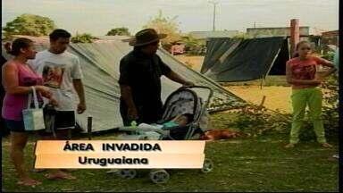 Mais um terreno é invadido em Uruguaiana, RS - Cerca de 30 famílias ocuparam terreno no bairro Hípica II.