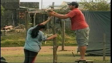 Terreno é invadido em Uruguaiana, RS - Cerca de 30 famílias ocuparam propriedade no bairro Hípica II.