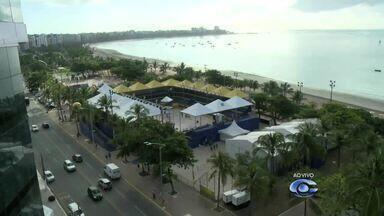 Nesta quarta-feira, a Praia de Pajuçara recebe o SuperPraia de Vôlei - Competição vai reunir os melhores atletas do vôlei de praia brasileiro