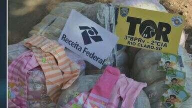 Polícia Federal prende duas pessoas por contrabando em Saltinho, SP - Todos os produtos foram lacrados e encaminhados para a Receita Federal de Piracicaba (SP).