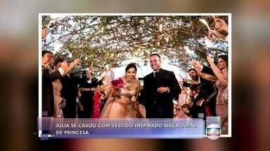 Convidada se casou vestida de princesa - 'Me inspirei na princesa Ariel', comentou Júlia