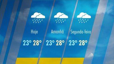 Domingo deve ser de chuva em Salvador e no Recôncavo Baiano; veja na previsão do tempo - A máxima na capital baiana deve ser de 28° C. A possibilidade de chuva é de 90%.