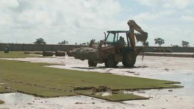 Confira como está a construção do Centro de Treinamento do CRB - Clube treina no Nelsão, mas continua desenvolvendo trabalho de construção do Ninho do Galo.