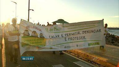 Em média, três crianças sofrem abuso no Ceará diariamente - População protesta contra casos de abuso no estado.
