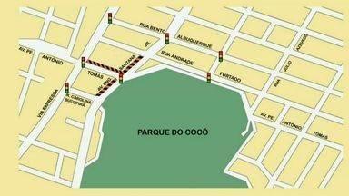Obra do túnel do Cocó ocasiona mudanças no trânsito da região - Veja quais são as mudanças.