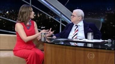 Jô Soares entrevista Michelle Loreto - Ela foi moça do tempo por 10 anos e agora se prepara para voltar ao vídeo fazendo reportagens para os telejornais da TV Globo. Michelle é do Recife e conta quais são suas metas pessoais para 2015