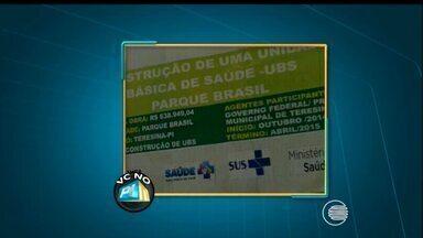 VC no PI TV: telespectador denuncia atraso na construção de UBS no bairro Parque Brasil - VC no PI TV: telespectador denuncia atraso na construção de UBS no bairro Parque Brasil