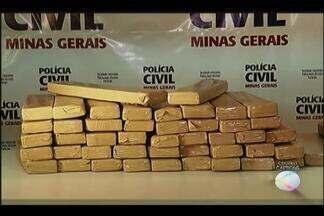 Polícia Civil de Uberlândia apresenta jovem que armazenava droga em casa - Com ele foram apreendidos 70 quilos de maconha. Droga teria vindo do Mato Grosso do Sul, mas pode ter origem paraguaia.