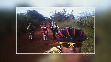 Ciclistas fazem trilha entre Goiânia e Aparecida - Telespectadores mostraram dia de lazer entre as cidades.
