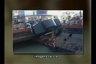 Fim de semana em Belém registra dois acidentes de trânsito - Prefeitura isolou trecho da avenida Doca de Souza Franco e informou que agora vai trabalhar na recomposição da mureta de proteção que ficou destruída.