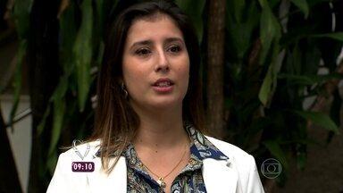 Nadia Bocchi mostra representante comercial que conseguiu aplicar a técnica da consciência - Médico Marcelo Dermazo explicou tudo sobre a 'mindfulness' e como ela pode fazer bem à saúde